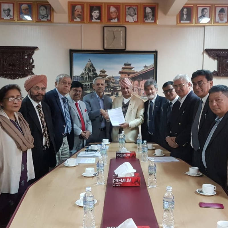Meeting of IPPNW-Delegation and Foreign Ministers at Kathmandu