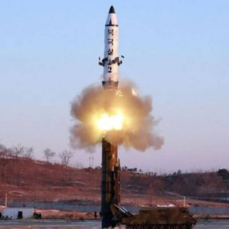 North Korea's latest missile test, photo: IPPNW
