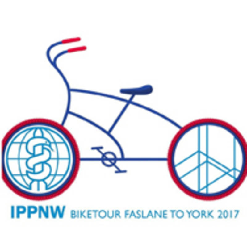 Photo: This year's IPPNW bike tour logo, source:https://ippnweupdate.files.wordpress.com/2017/08/biketourlogo.jpg