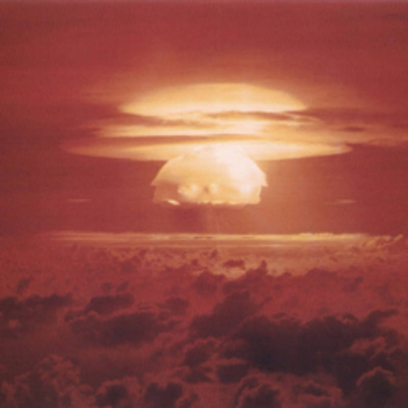 Nuclear weapon test Bravo on Bikini Atoll, Photo: United States Department of Energy