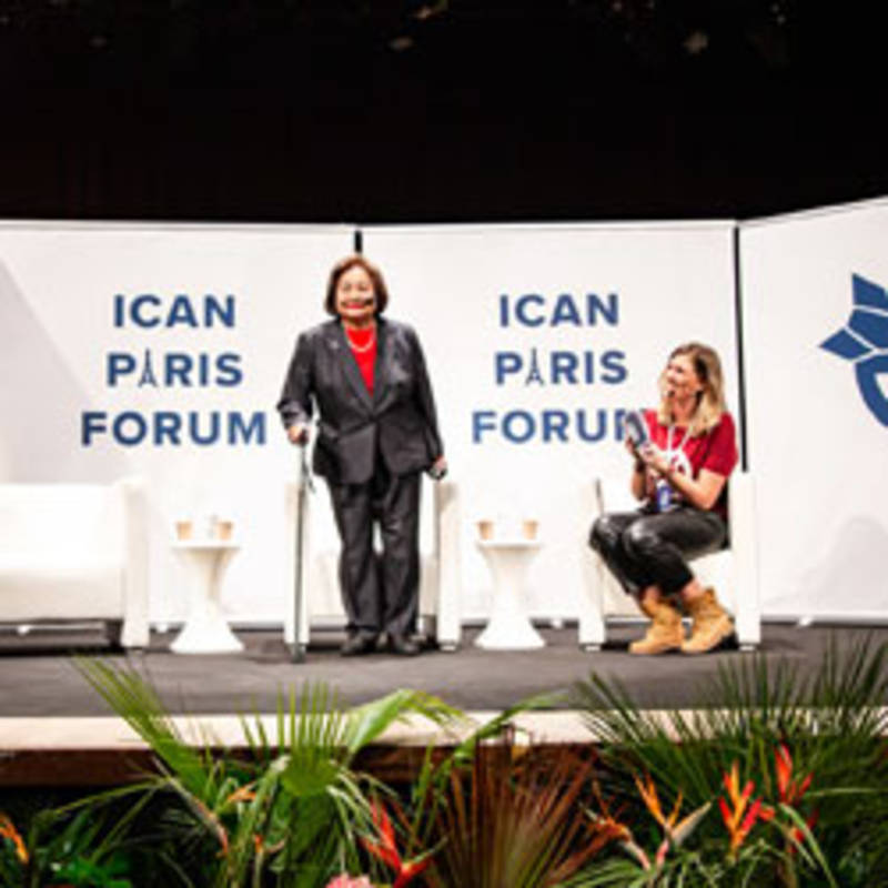 14 February 2020 - Day one of the ICAN Paris Forum: how to ban bombs and influence people, Photo: ICAN Germany