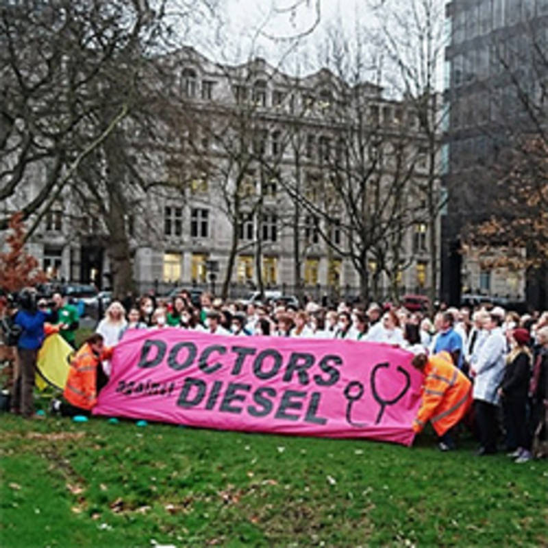 "Highlights at the conference included the launch of ""Doctors against Diesel"". Photo: Medact"