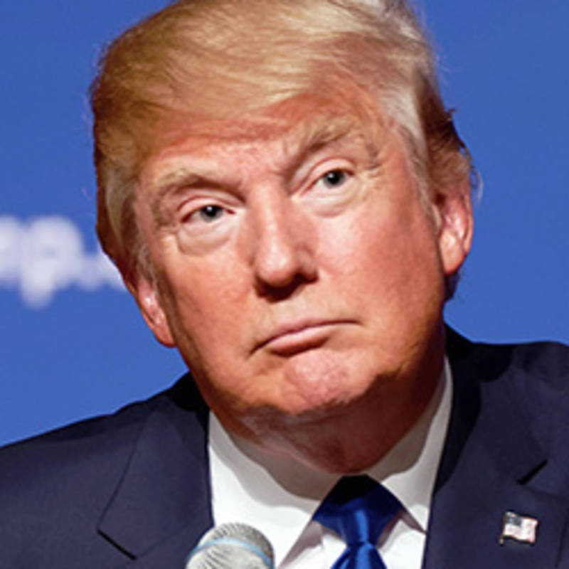 Donald Trump, Foto: Michael Vadon August 19, 2015.jpg, CC BY-SA 2.0, https://commons.wikimedia.org/w/index.php?curid=42609338 (bearbeitet)