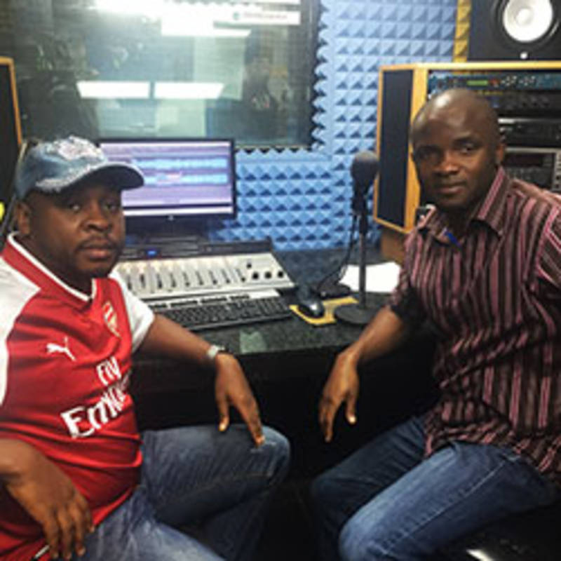 IPPNW Nigeria Radio Show, Dr Emeka Okolo and David Onazi, Photo: IPPNW Nigeria