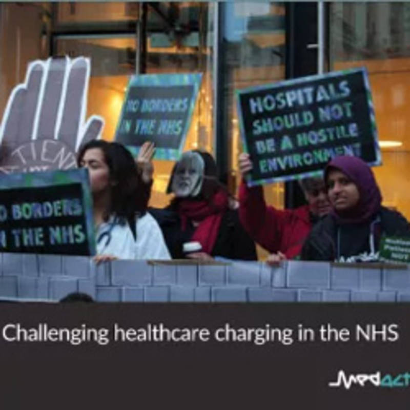 Patients Not Passports – challenging healthcare charging in the NHS, photo: Medact