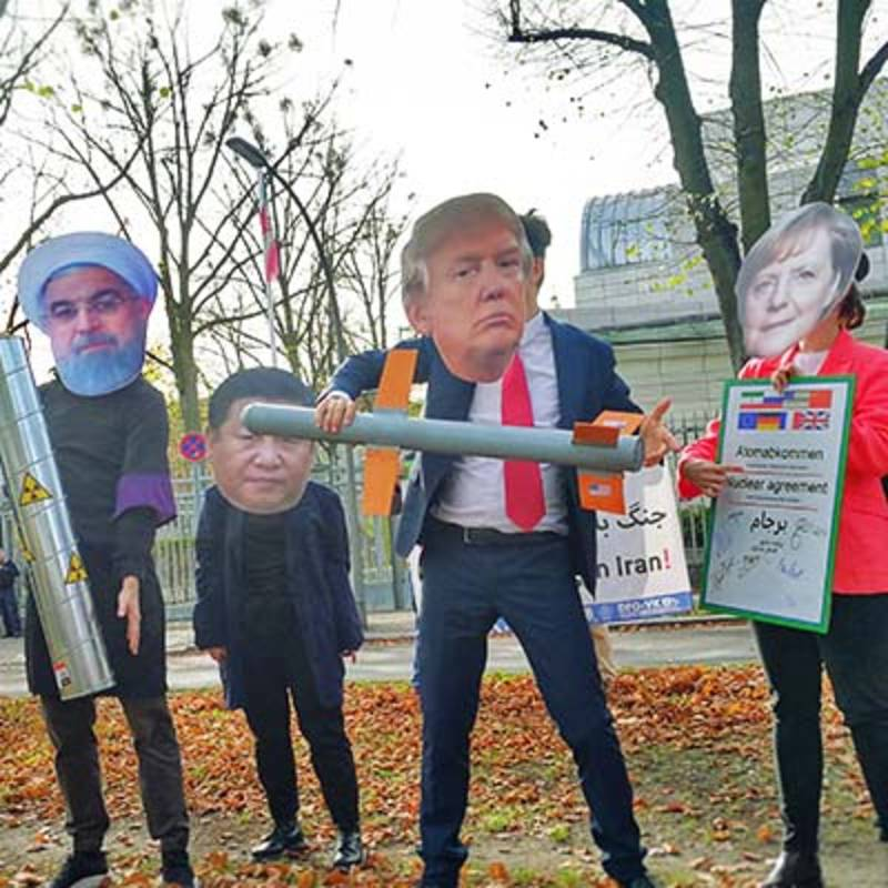 No War on Iran - Protests in Berlin, October 2019. Picture: DFG-VK