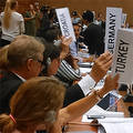 Germany, Turkey, Croatia and others vote against the proposal to convene a conference 2017 to outlaw Nuclear Weapons. Photo: Xanthe Hall, IPPNW