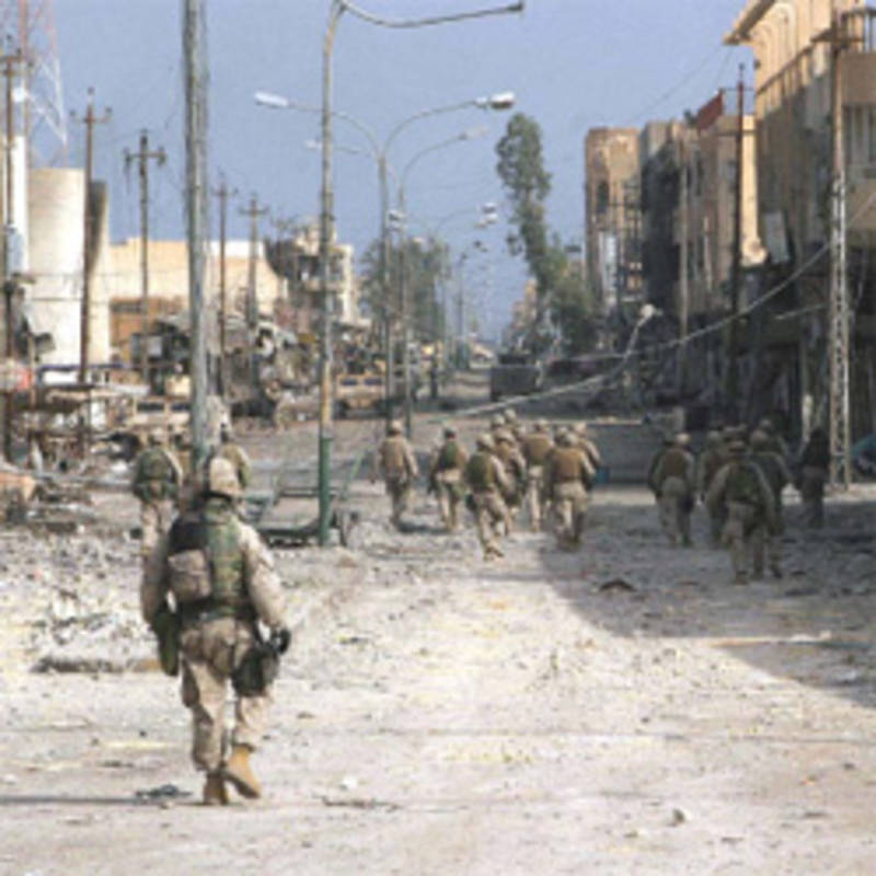 After the urban warfare, Fallujah, Iraq, Nov. 2004,  photo by Lance Cpl. James J. Vooris