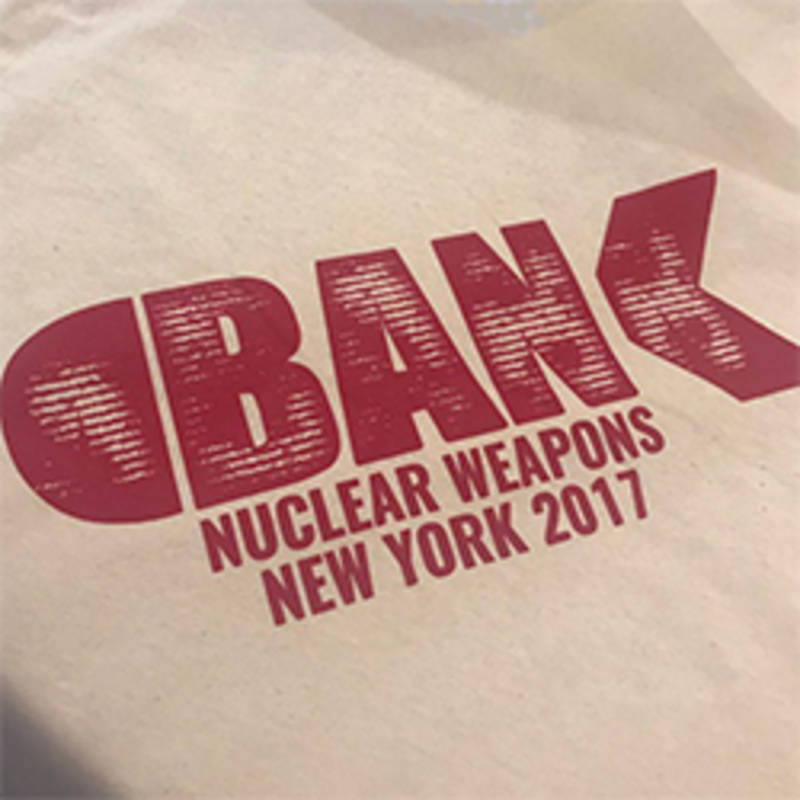 Photo: T-Shirt for a Nuclear Ban, Photo: ICAN