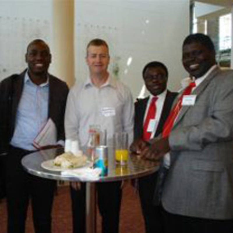 IPPNW Drs. Daniel Bassey, Andrew Winnington and Bob Mtonga (L,M,R) with colleagues from Nigeria and Zambia at the WHO Violence Prevention Meeting Cape Town
