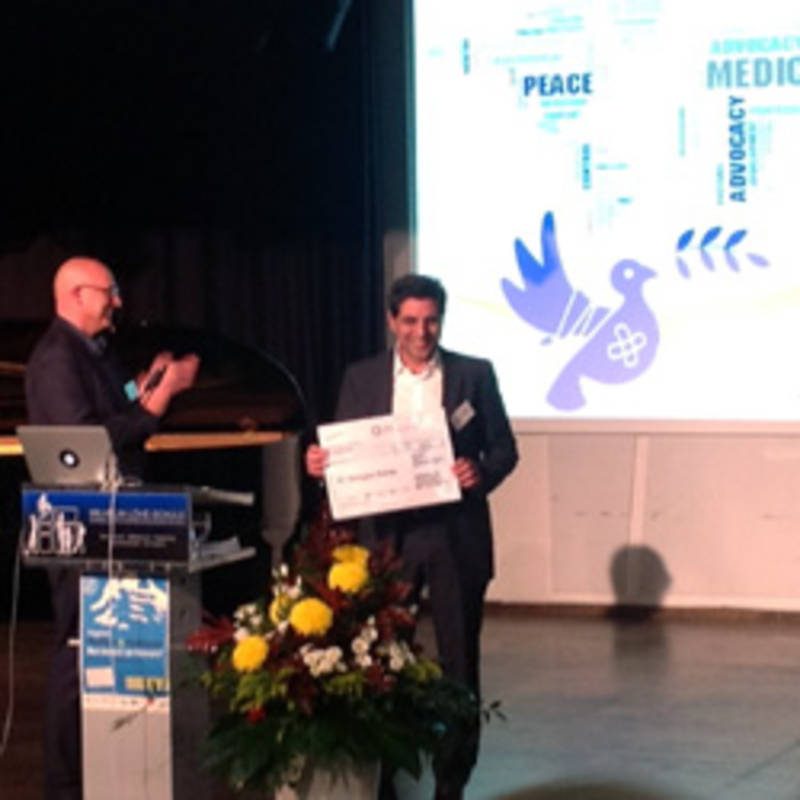 Greek physician Dr. Giorgos Vichas receives Medical Peace Award, Foto. IPPNW