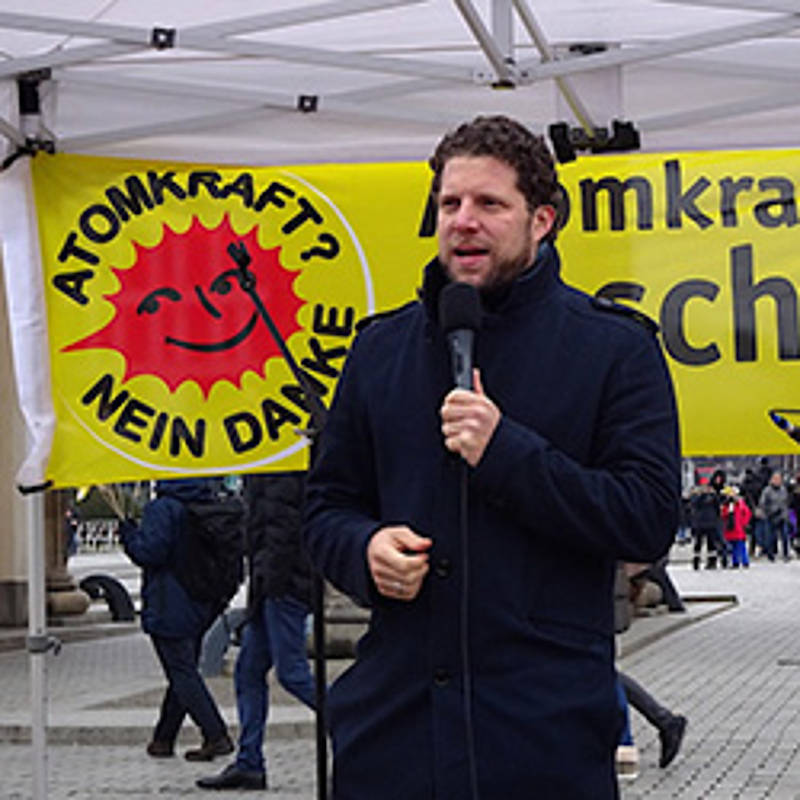 Dr. Alex Rosen, Chairman of IPPNW Germany,speaking at the Fukushima Protests in March in Berlin