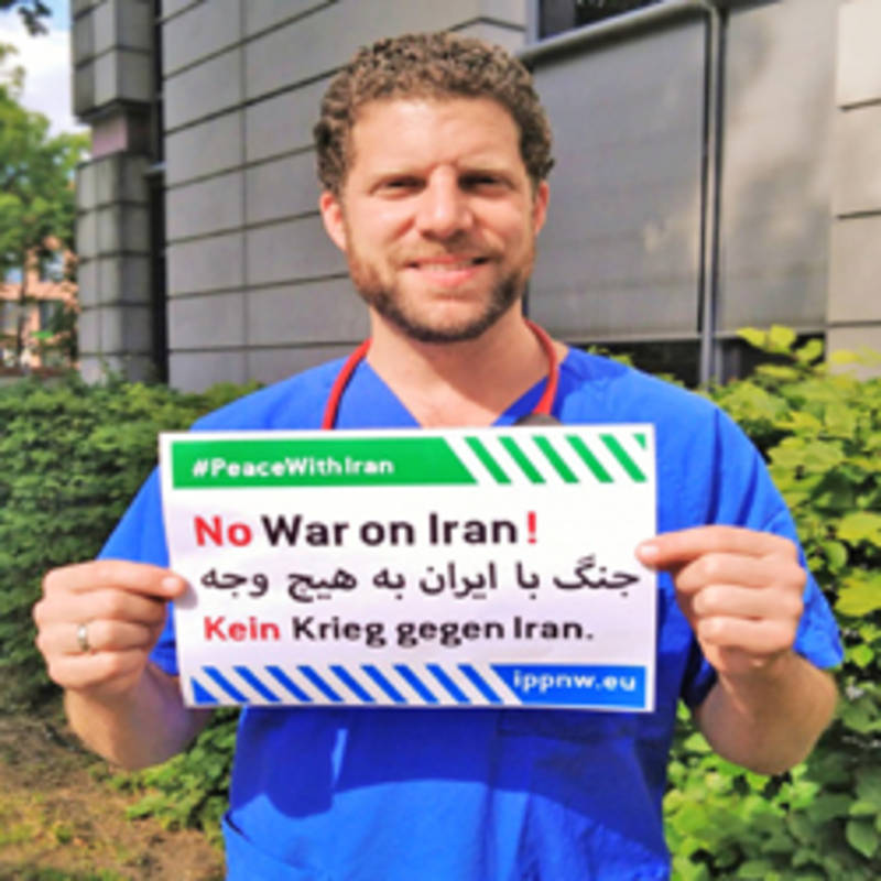 No War on Iran; photo: IPPNW
