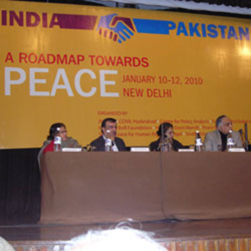Indian-Pakistani Conference in January 2010: A Roadmap towards Peace, Picture: Heinrich-Böll-Stiftung.