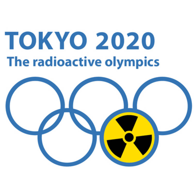 "Logo of the campaign ""Tokyo 2020 - The Radioactive Olympics"", graphic: IPPNW"
